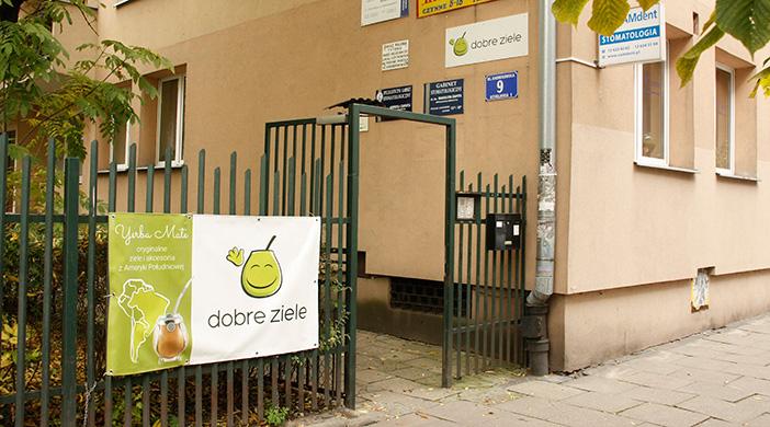 Brama wejściowa do sklepu w Krakowie