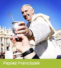 Papież Franciszek pije yerbę