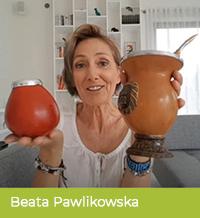 Beata Pawlikowska pije yerbę