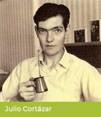 Julio Cortázar pije yerbę