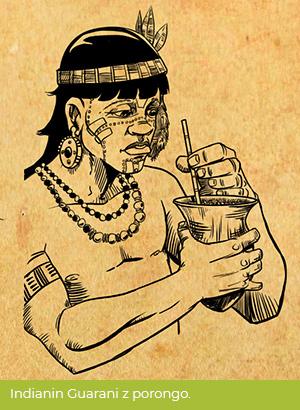 Indianin Guarani zporongo.