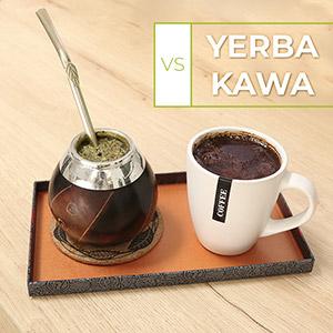 Kawa i yerba na tacy do wyboru