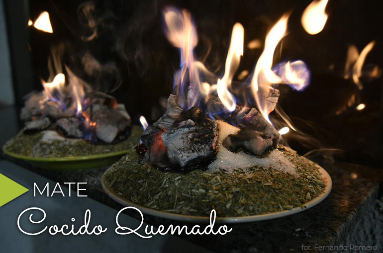 Mate Cocido Quemado ze zjawiskowym płomieniem