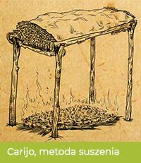 Tradycyjna metoda suszenia nad ogniem - carijo