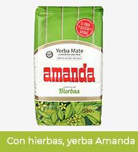 Paczka yerby marki Amanda w wersji con hierbas