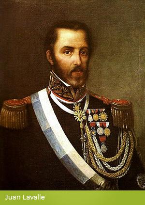 Portret Juana Lavalle, dowódcy konfederatów.