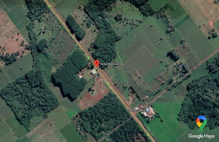 Zdjęcie satelitarne plantacji Isondu