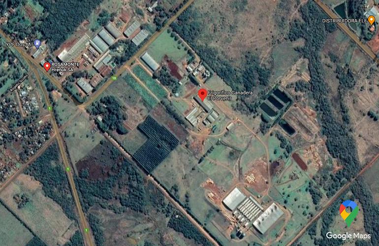 Zdjęcie satelitarne plantacji Rosamonte