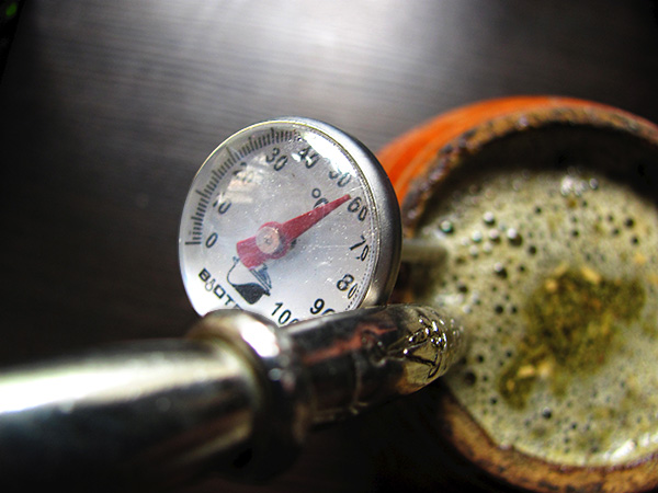 termometr w yerba mate
