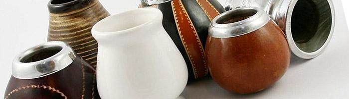 naczynia do yerby: tykwy, palo santo, ceramika